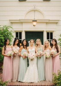 Cost of a wedding - mismatched bridesmaids