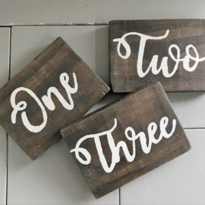 wooden-table-numbers-hire-hampshire-west-sussex