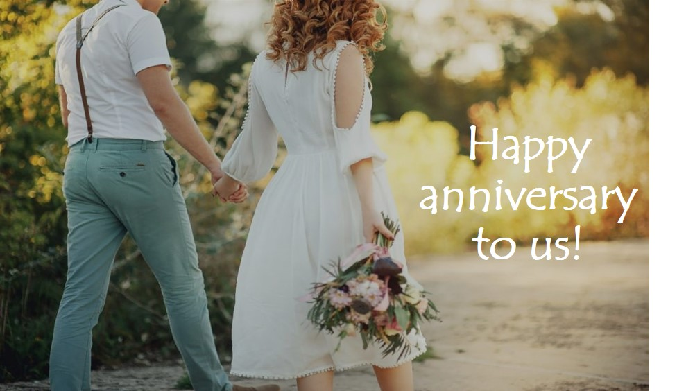 Happy anniversary to us!
