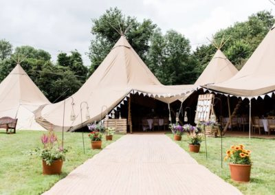 Emma and Zac – a Tipi back garden wedding in Hampshire