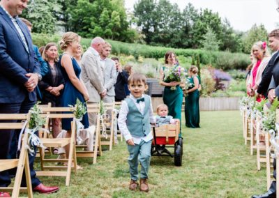 Cute pageboys at Hampshire Tipi wedding