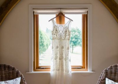 The dress. Hampshire Tipi Wedding Planner