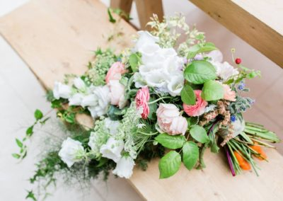 Hampshire Tipi Wedding alternative bouquet