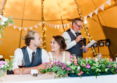 Hampshire Tipi Wedding Planner - the speeches