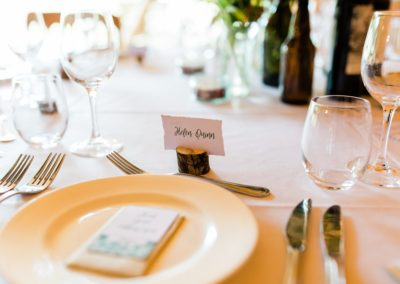 Hampshire Tipi Wedding Planner - table setting