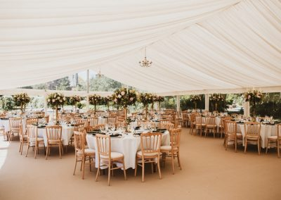 Emma and Tom's marquee wedding at Sherbourne Park. Coordinated by Wild Wedding Company, wedding planner