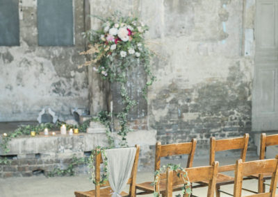 Wedding at The Asylum, London ceremony area