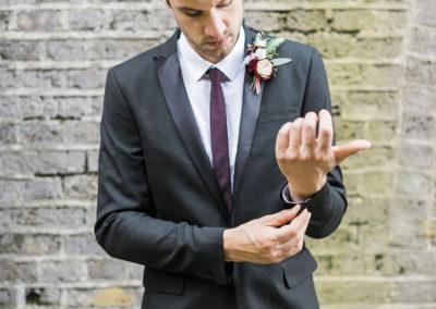 Groom at Asylum Wedding, London